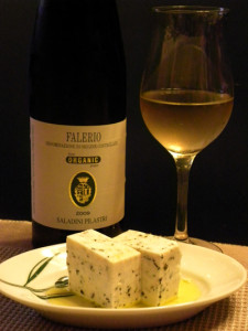 バジル豆腐&白ワイン